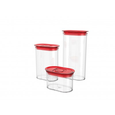OVAL FOOD STORAGE JARS